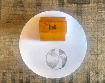 Sports Planner Stamp For Moms Vintage Ball Rubber Stamp