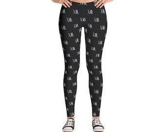 XO Leggings / Womens Leggings / Leggings Women / Leggings Printed / XO Clothing / Leggings Black / Black Leggings / White Leggings