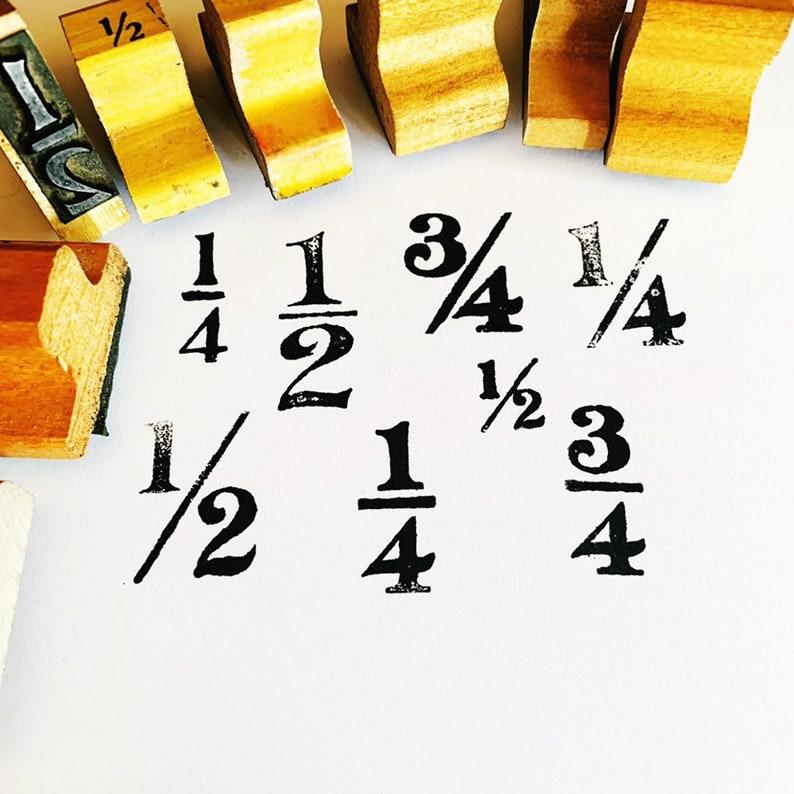 Vintage Fraction Stamps Rubber Stamps For Math /& Homeschooling YOU CHOOSE