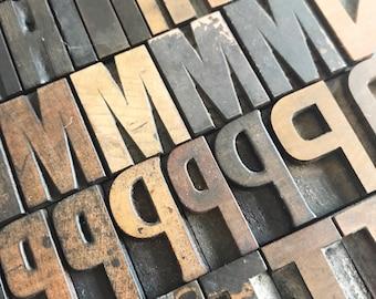 Vintage Letterpress / Pick Your Letters / Wood Letterpress / Personalized Gift / Printer Block / Wood Type / Wood Letter / Farmhouse