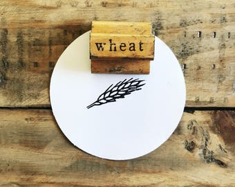 Vintage Wheat Stamp / Wooden Wheat Stamp / The Classroom Printer / Old Wood Stamp / Vintage Wood Stamp / Wood Handled Stamp / Farmhouse