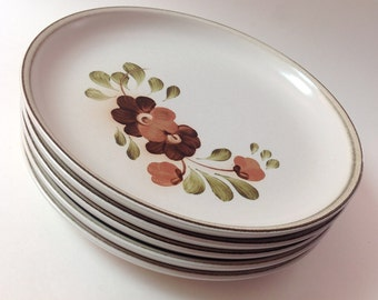 5 Denby Langley Serenade Dinner Plates Vintage Denby English Stoneware Pottery Set of Five & Denby stoneware   Etsy
