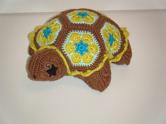 Auf Bestellung-häkeln Schildkröte bestehend aus afrikanischen | Etsy
