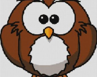 Cute Owl Cross Stitch Pattern