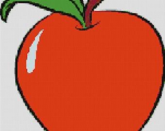 Apple Cross Stitch Pattern