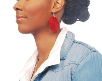 Mini Solid Hypnotic Plastic Canvas Hypnotic Earrings