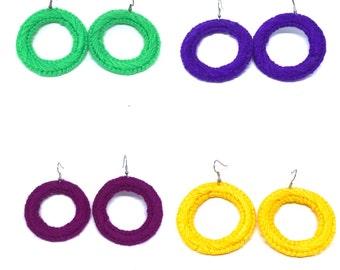 Mini Solid  Hoops Plastic Canvas Hypnotic Earrings