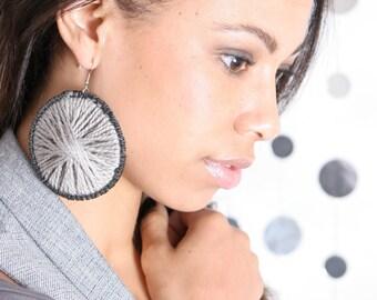 Pinwheel Custom Handmade Plastic Canvas Earrings