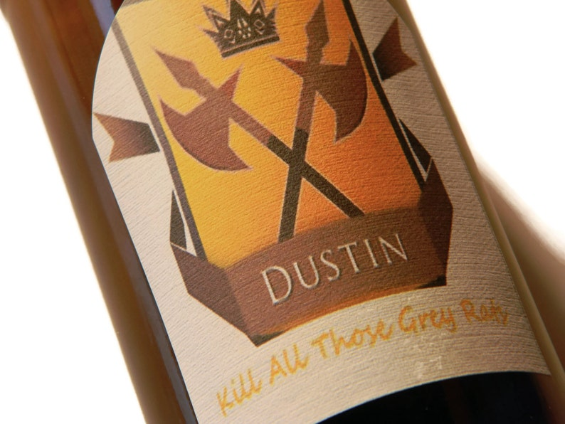 Dustin Beer Labels Game of ThronesGame of Thrones Gift image 0