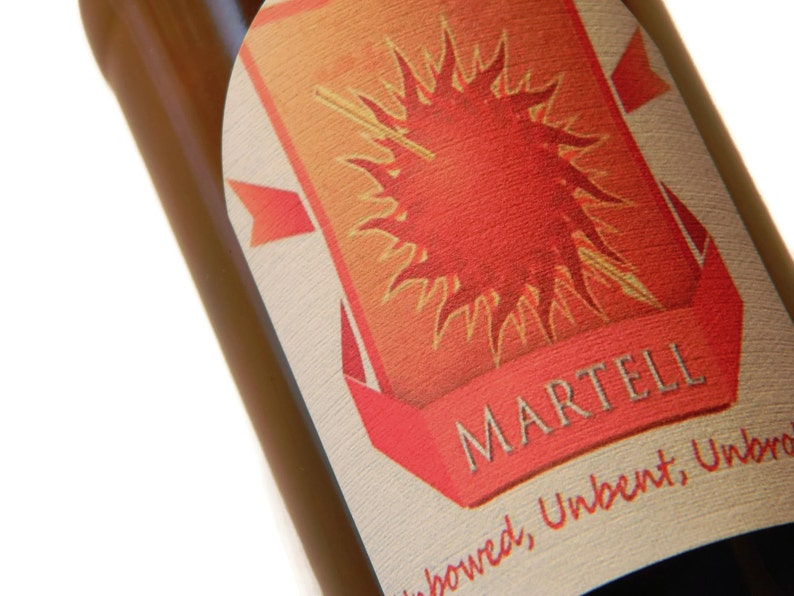 Martell Beer Labels Game of Thrones Martell Gift Sheet of image 0