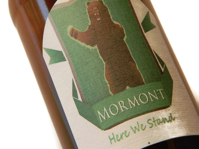 Game of Thrones Mormont Here We Stand Adhesive Beer Labels image 0