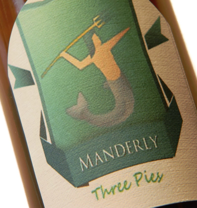 Game of Thrones Manderly Three Pies Adhesive Beer Labels image 0