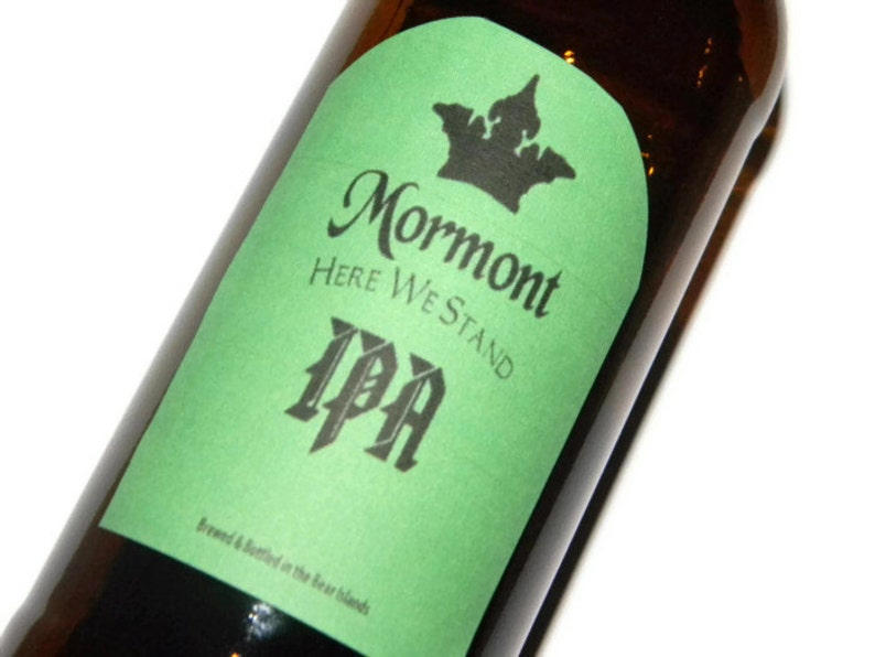 Game of Thrones Mormont Here We Stand IPA Adhesive Beer Labels image 0