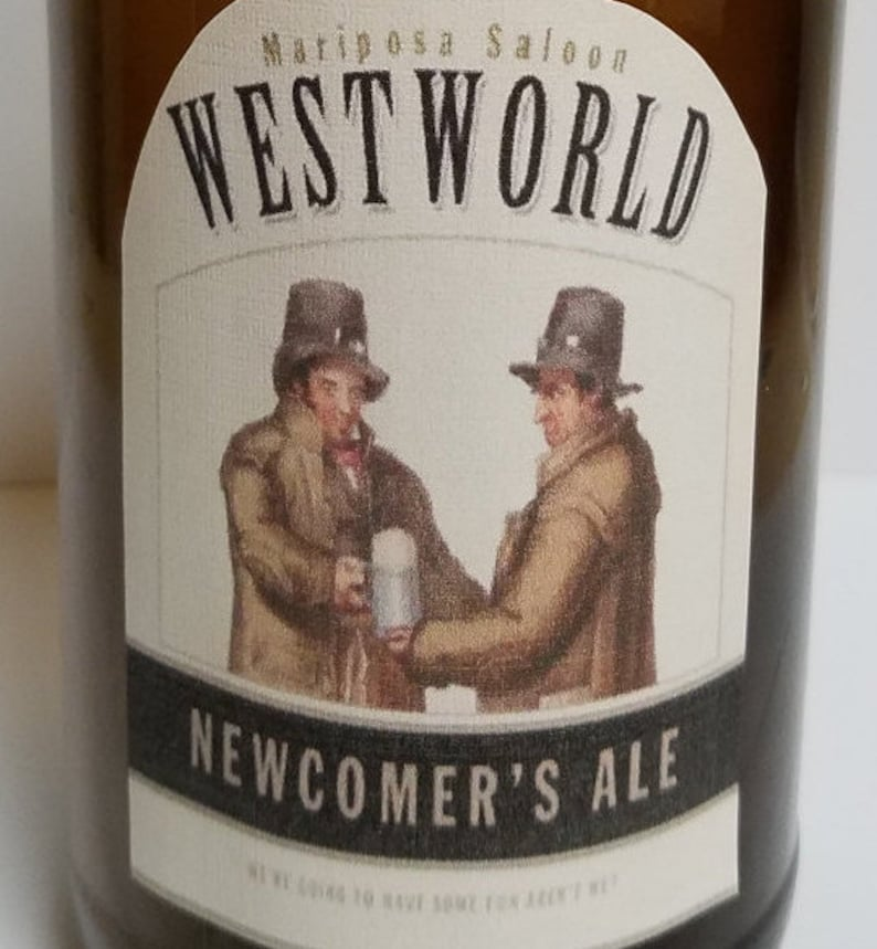 Westworld Mariposa Saloon Newcomer's Ale Beer Labels image 0