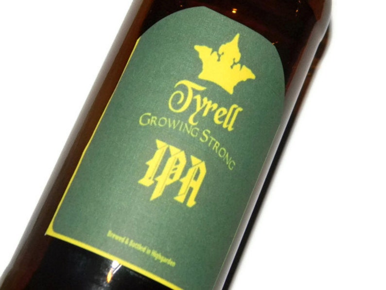 Tyrell Beer Labels Growing Strong Game of Thrones Stocking image 0