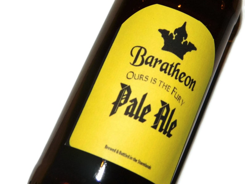Baratheon Beer Labels Ours is the Fury Game of Thrones image 0