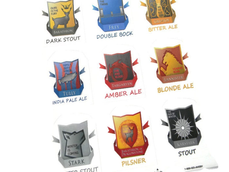 Game of Thrones Labels Game of Thrones Baratheon image 0