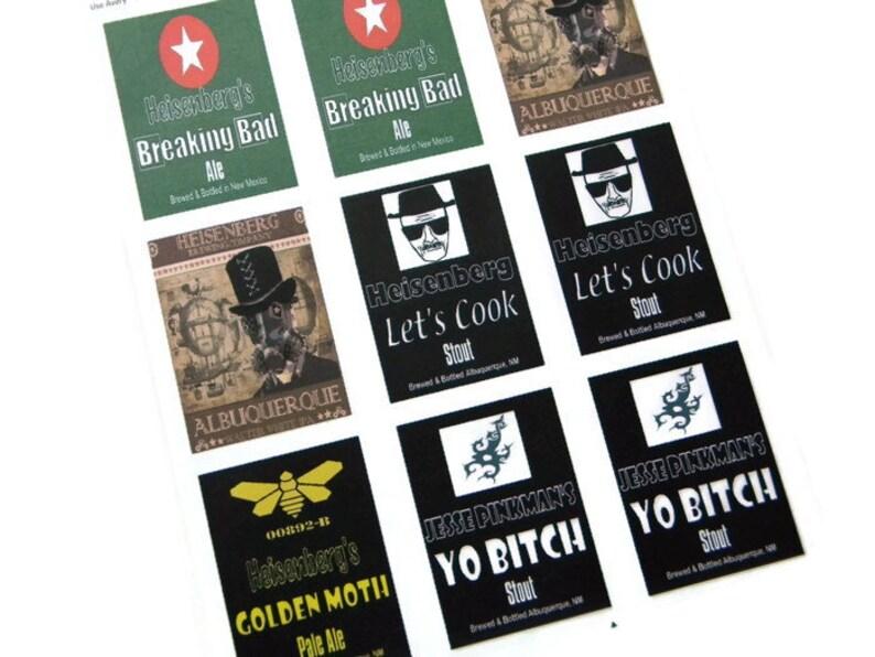 Breaking Bad Beer Labels Heisenberg  Golden Moth Let's image 0