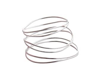 Wave Bracelets in Sterling Silver