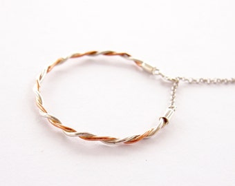 Silver and cooper bracelet