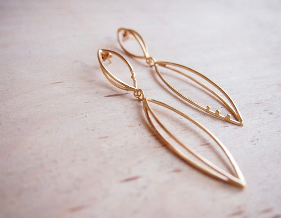 3d earrings in gold plated silver