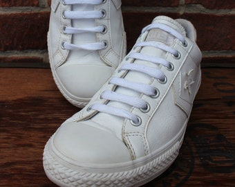 ded2e3171a Vintage Converse All Star Faux Leather Low Top Baseball Sneakers UK 5 US  Womens 5.5