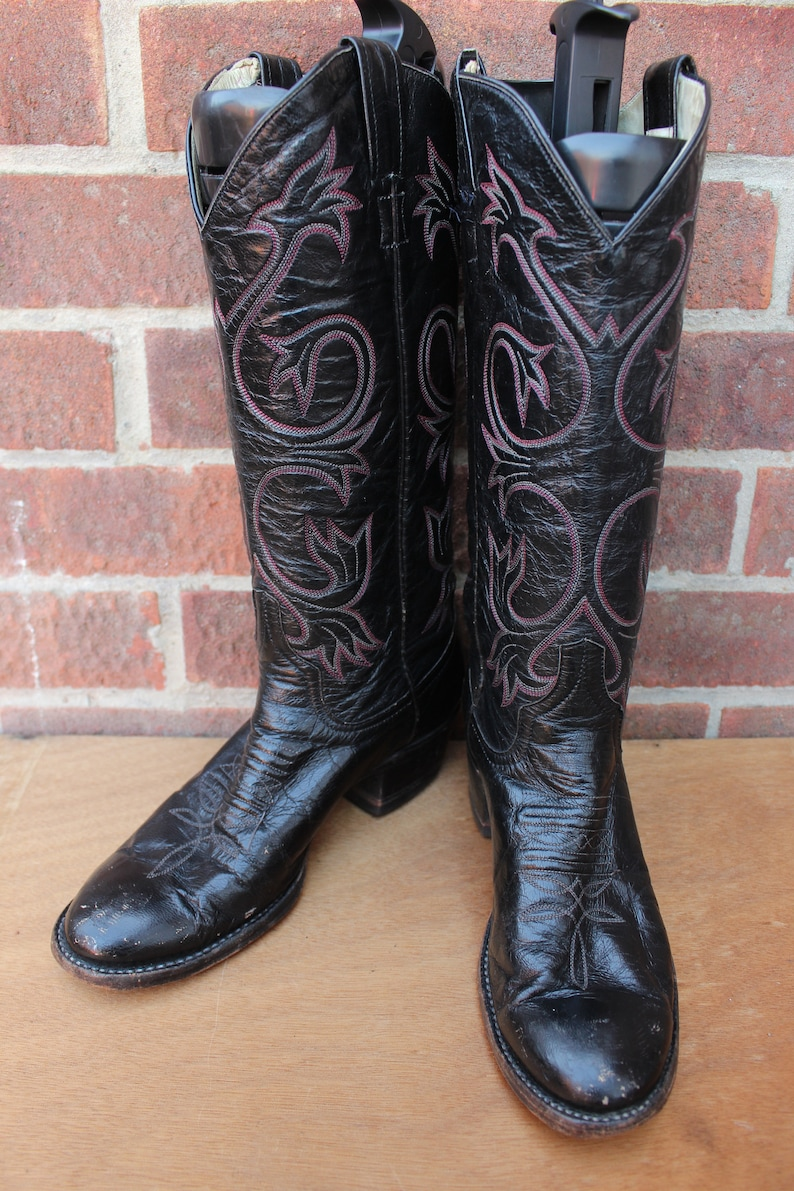 1774f31dfe0 Vintage Womens Larry Mahan 1981 Leather Western Cowboy Ranch Boots US 7 UK 5