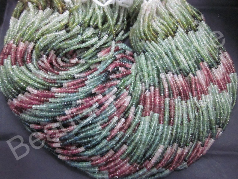 Tourmaline micro faceted rondelle 3-3.5 mm more than 150 pieces          AAA quality