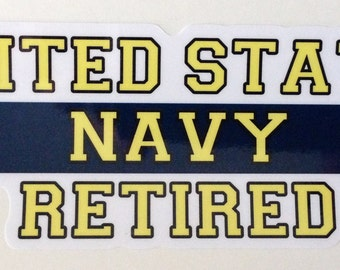 Military Decal- Retired Navy