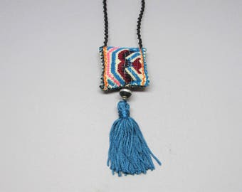 Turquoise Tassel Necklace - Bohemian Necklace - Boho Jewelry - Long Necklace - Gifts for Her