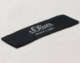 your logoartwork high density DAMASK weave fabric tags USA supplier complimentary artwork 1000 custom woven labels