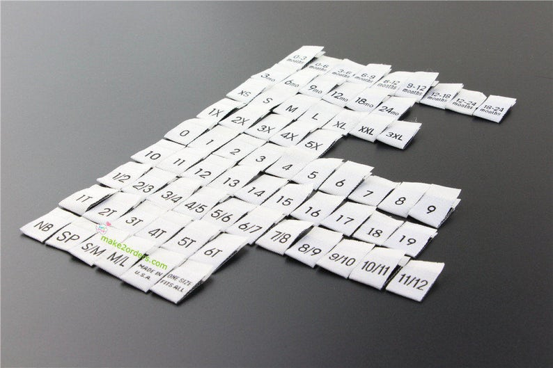 c804b34868cb Label Tags, Labels for Kids, Infant Size Labels, Clothing Size Tags, Size  Tabs, Cloth Labels, Tag Size, Side Seam Labels, Free Post Ship.
