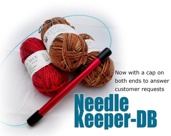 Needle Keeper-DB:  Double-Capped for circular knitting needles, protect your precious needles and work in progress.