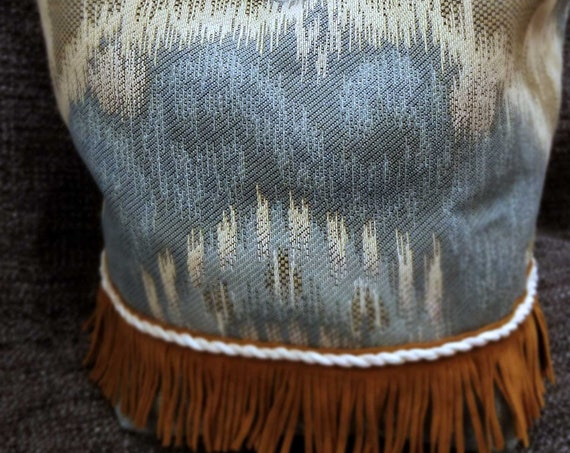 Project Bag Flat Bottom Dumpling: Country Cowgirl Fringe & Suede