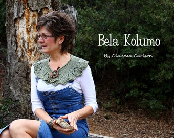 Bela Kolumo, easy feminine lace collar to add to any outfit. PATTERN
