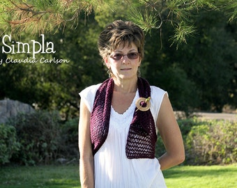 Simpla, versatile, lacy accent to any garment. PATTERN