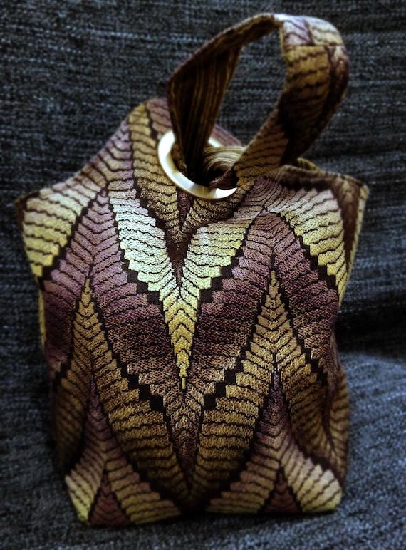 Project Bag Flat Bottom Dumpling: Deep Richly Textured Purple Gold