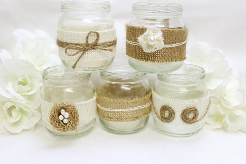 Burlap Mason Jar Western Wedding Decorations Burlap Flowers Etsy