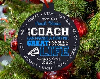 Cheer Coach Ornament Etsy