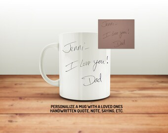 Real Handwriting Mug Etsy
