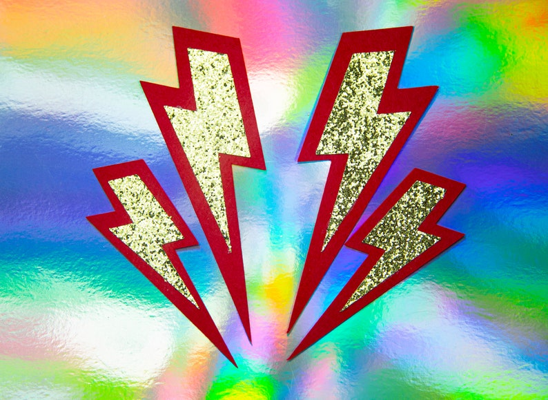 LIGHTNING BOLTS Lightning Bolt Facing Patches image 0