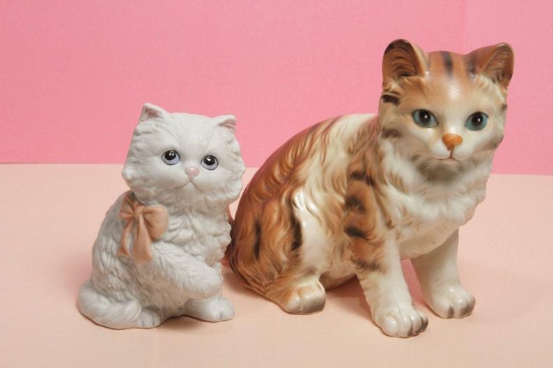 Two Retro / Kitschy Ceramic Kittens image 0