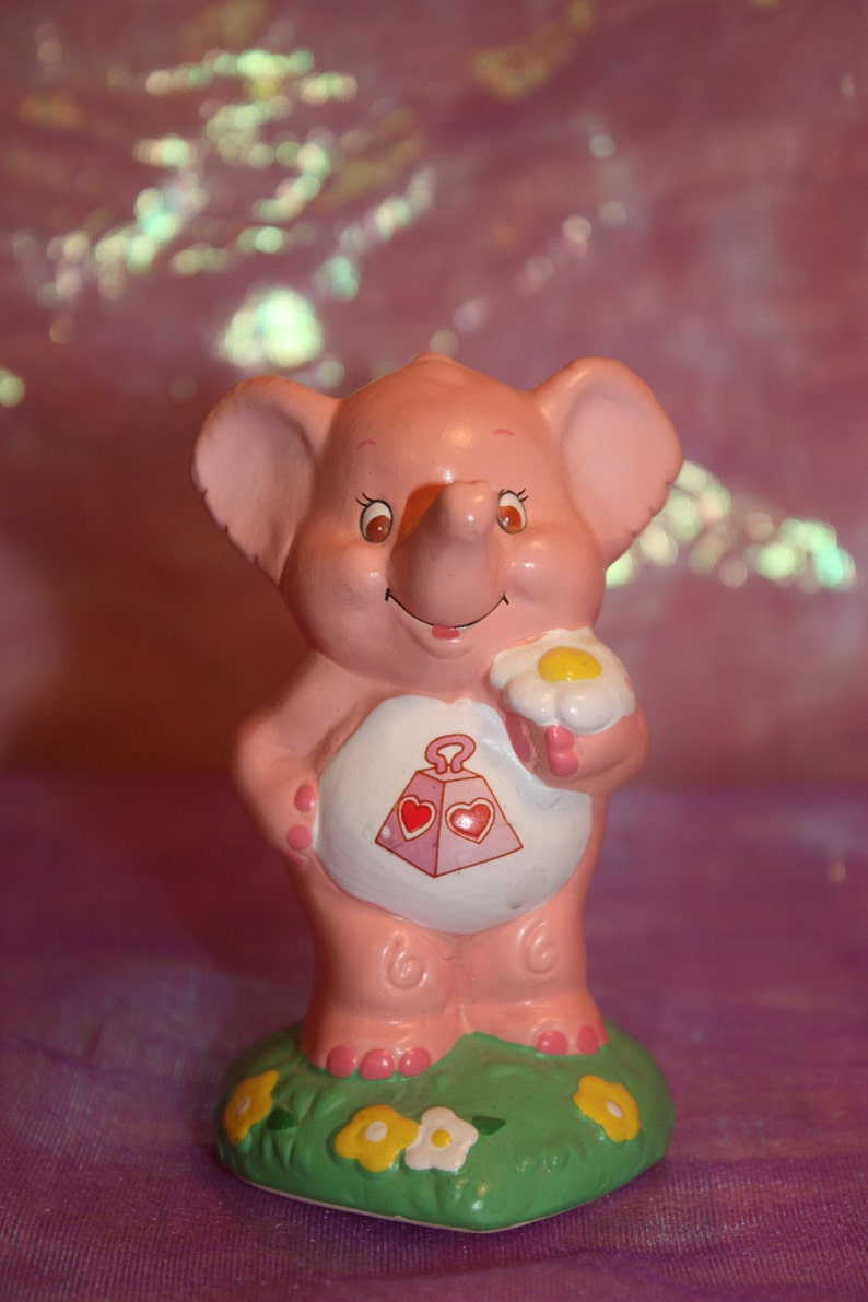 Lotsa Heart Elephant Care Bear Cousin Figurine 1985 American image 0