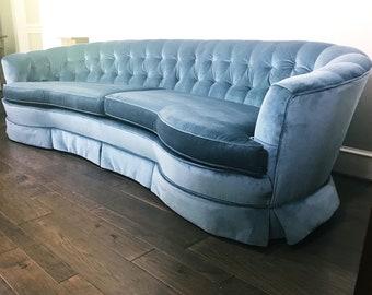 Vintage Hollywood Regency Tufted Sofa
