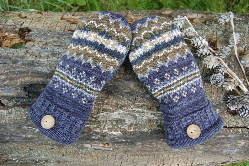 photo of handmade sweater mittens