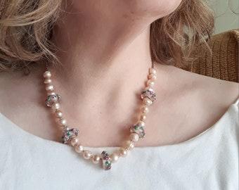 coil wrap Sugilite half moon briolette Amethyst and Citrine rondelle 14k gold fill  earwire mauve rosebud pearl