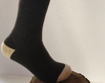 fb0675fa8 Alpaca socks super soft brown crew perfect and unique gift for everyone!