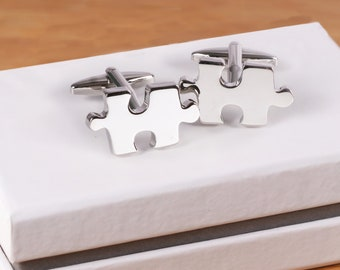 Autism Cuff Links Puzzle Piece Autism Cufflinks Christmas Father/'s Day