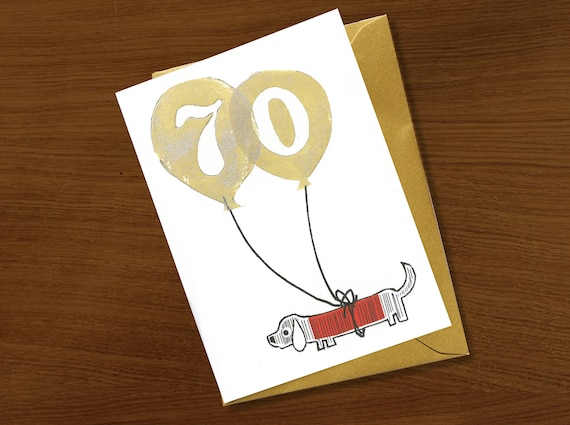 70th Birthday Card 70 Years Special Age