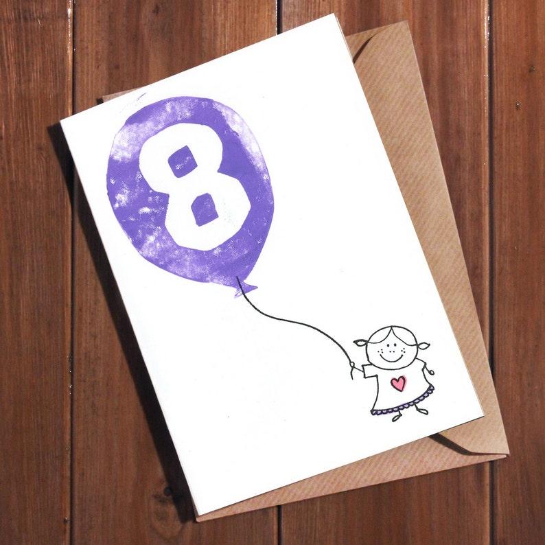 8th Birthday Card Age 8 Eight Year Old